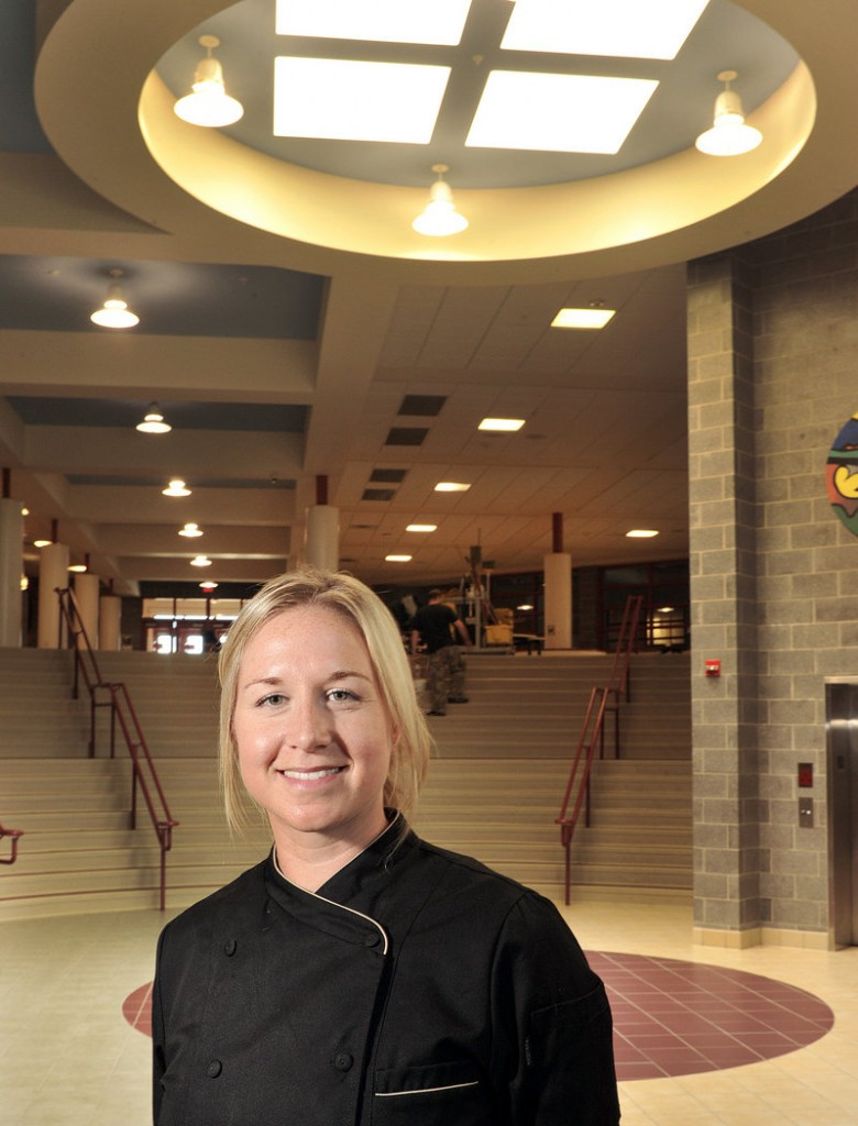 Samantha Cowens-Gasbarro, a culinary school graduate and chef, has been hired by the Windham-Raymond school district. She says one of her goals will be to start cooking classes or an after-school cooking club for students.