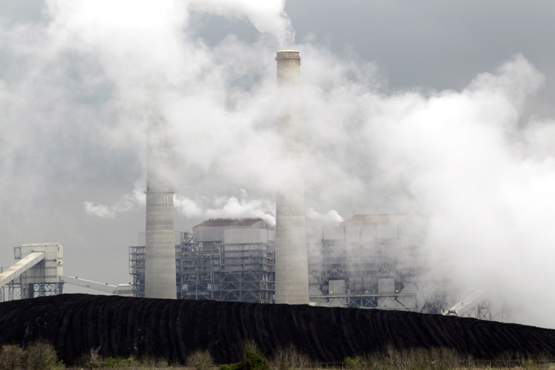Piles of coal are shown at NRG Energy's W.A. Parish Electric Generating Station in Thompsons, Texas. The plant, which operates natural gas and coal-fired units, is one of the largest power plants in the United States.