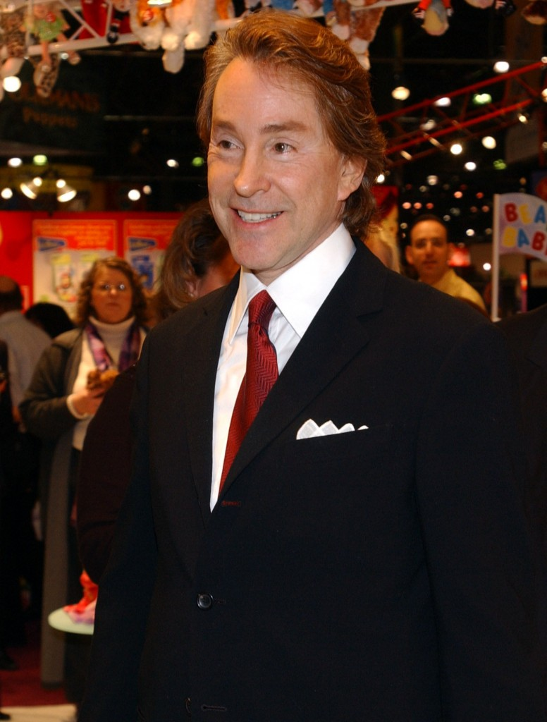 In this Feb 16, 2003 file photo, Ty Warner, Beanie Baby creator arrives at the Toy Fair to sign