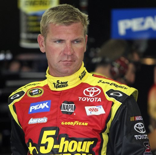 FILE - In this July 13, 2013 file photo, Clint Bowyer gets ready to drive during the final practice for a NASCAR Sprint Cup auto race at New Hampshire Motor Speedway in Loudon, N.H. His reputation has been battered, his team blasted by NASCAR for manipulating the outcome of a pivotal race. Now Clint Bowyer will do his best to pick up the pieces and try to salvage his season. (AP Photo/Jim Cole, File)