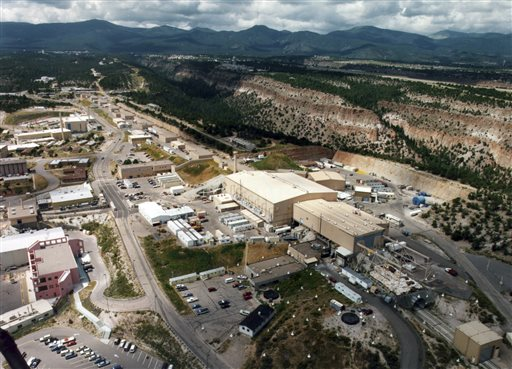 Aerial view shows the Los Alamos National laboratory in Los Alamos, N.M. It is built in an area that is susceptible to earthquakes.