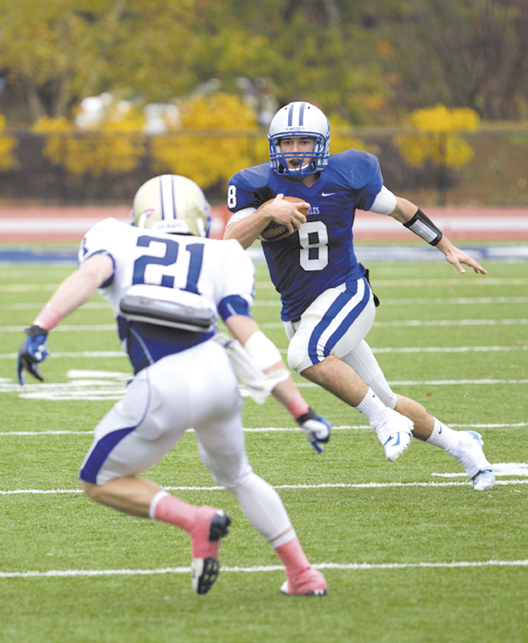 STARTER IS BACK: Justin Ciero was named the starting quarterback for the Colby football team in the second game last season. He passed for 1,001 yards and touchdowns, while rushing for 497 yards and three TDs as the Mules went 3-5.
