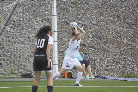 A NEW SPOT: Gardiner Area High School graduate Emily Staples has made a position change this season for the University of Southern Maine women's soccer team. Staples is playing striker this season and has scored two goals.