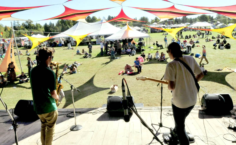 Stop Tito Collective performs today during the Great North Fest in Norridgewock.