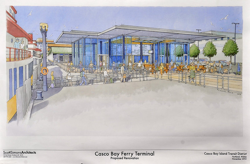 This artist's concept for the Casco Bay Ferry Terminal illustrates how it will look when upgrades are completed in May.