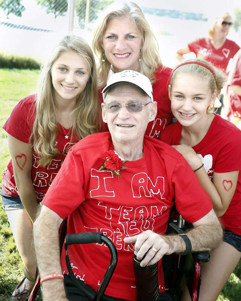 Jim Caldwell is pictured with his wife, Sharon Leskanic, and their daughters Sarah, 16, left, and Kathryn, 13.