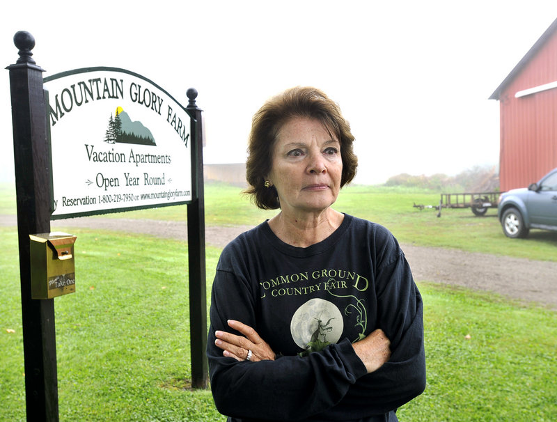 """Christina Shipps, who owns Mountain Glory Farm in Patten, says she is """"cautiously optimistic"""" about St. Clair's efforts."""