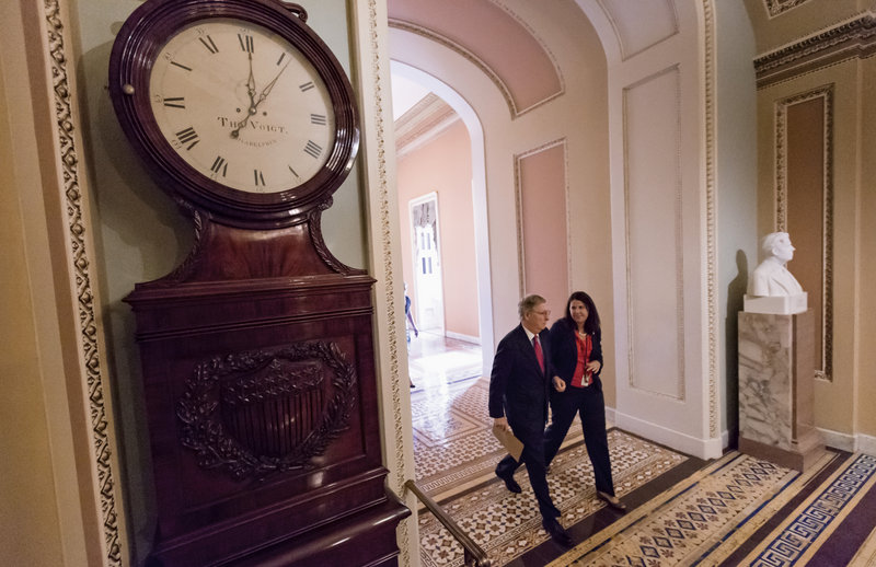 """The clock is running out for Senate Minority Leader Mitch McConnell and other Republicans who are trying to delay the implementation of """"Obamacare."""""""