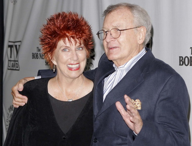 """Actors Marcia Wallace, left, and Bill Daily arrive for TV Land's 35th anniversary tribute to """"The Bob Newhart Show"""" in Beverly Hills, Calif., on September 2007 Wallace, who played a receptionist on the show, and the voice of Edna Krabappel on """"The Simpsons,"""" died Saturday."""