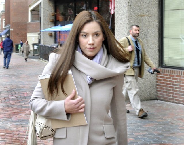 Former Zumba instructor Alexis Wright leaves the Cumberland County Courthouse after plea talks in this March 13, photo.