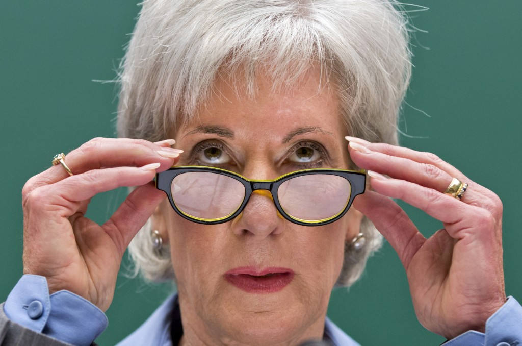 Health and Human Services Secretary Kathleen Sebelius testifies on Capitol Hill in Washington on Wednesday before the House Energy and Commerce Committee hearing on the difficulties plaguing the implementation of the Affordable Care Act.