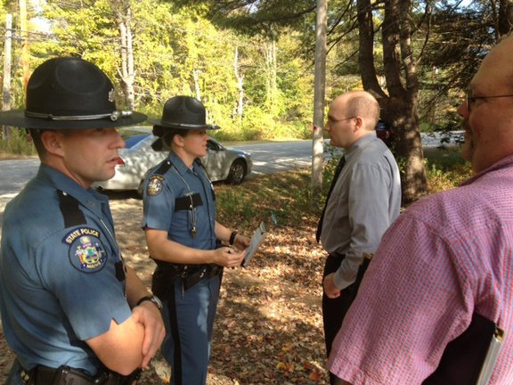 County, municipal and state police converged at a Wayne residence today to recover thousands of dollars in stolen goods, police said.