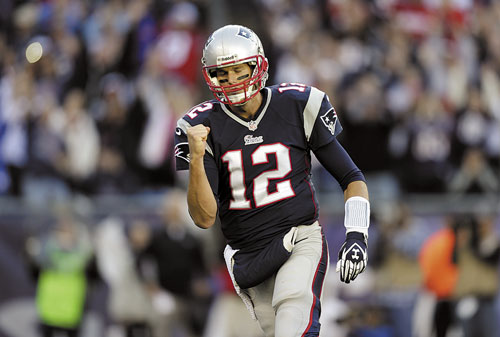 BIG COMEBACK: New England Patriots quarterback Tom Brady threw a 17-yard touchdown pass to Kenbrell Thompkins with 5 seconds left in the game to beat the Saints.