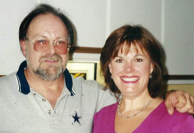 John Pelletier with his younger sister, Paula Pelletier, in 2005.