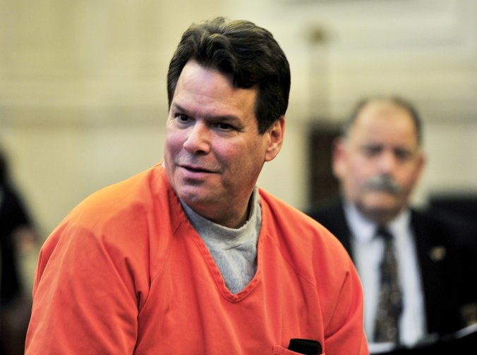 Dennis Dechaine, shown in court in Portland on Thursday, was convicted in 1989 of the murder of 12-year-old Sarah Cherry.