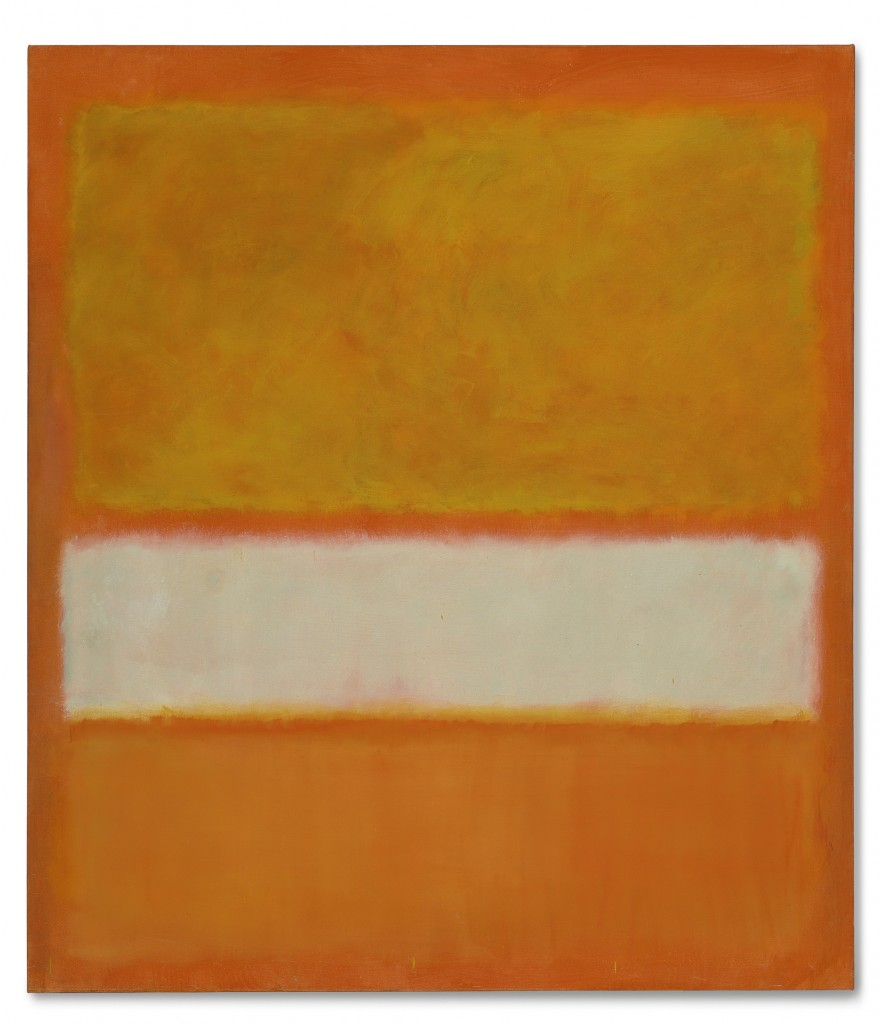 """Mark Rothko's oil painting """"Untitled (No. 11),"""" created in 1957, garnered $46 million at auction on Tuesday."""