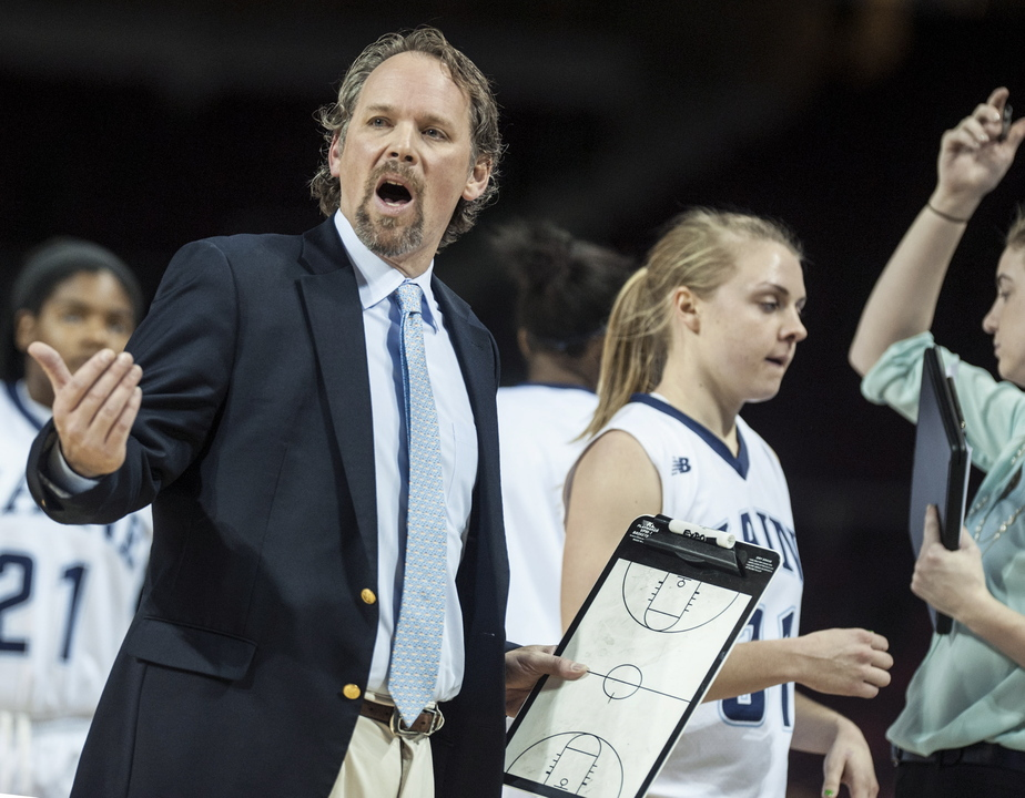 WINNING WAYS: University of Maine women's basketball coach Richard Baron has helped the Black Bears win four of their first six games, matching their win total from last season.