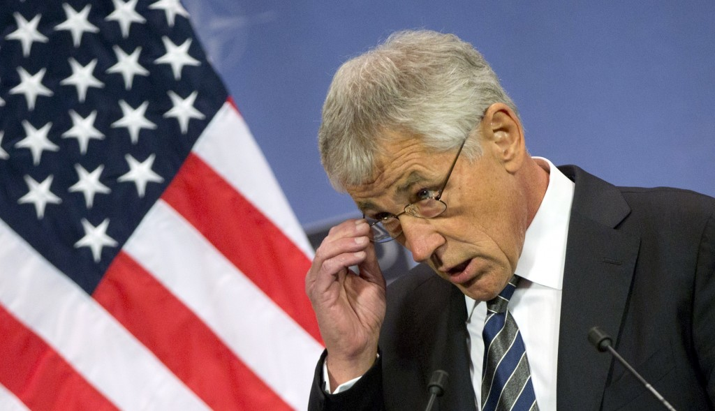 """U.S. Secretary of Defense Chuck Hagel: """"Just as overdependence on the military carries with it risks and consequences, letting our military strength atrophy would invite disaster."""""""