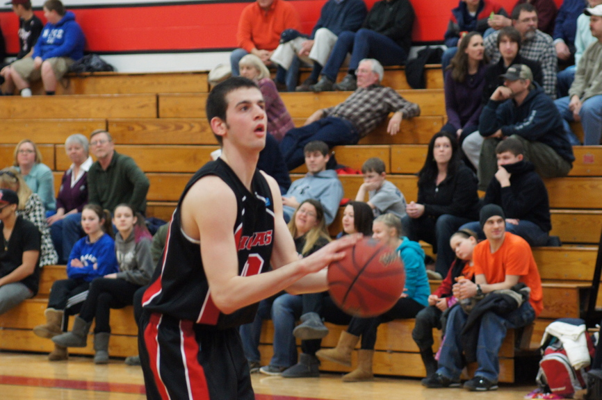 Contributed photo MAKING THEM BELIEVE: Skowhegan Area High School graduate Levi Barnes wasn't highly recruited out of high school, but has found a home at Thomas College.
