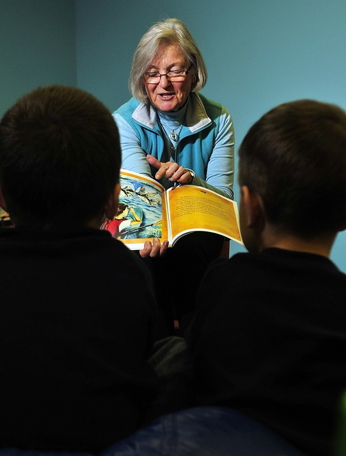 "Book Reading: Nancy Prince reads her book ""Libby's Loons"" during an event on Saturday at Children's Discovery Museum in Augusta."