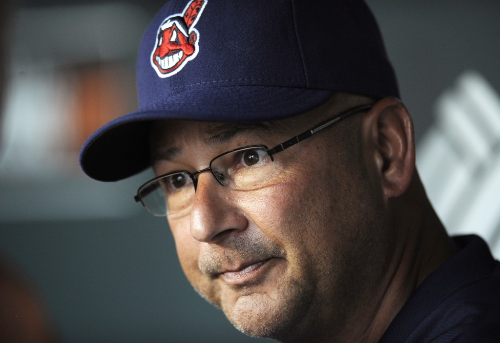 In this June 24, 2013, photo, Cleveland Indians manager Terry Francona talks to reporters before the Indians' baseball game against the Baltimore Orioles in Baltimore. Francona was selected as the AL Manager of the Year on Tuesday, Nov. 12, 2013, by the Baseball Writers' Association of America,