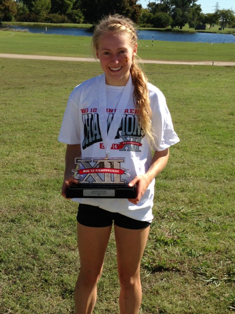AWARD-WINNING DAY: Waterville Senior High School graduate Bethanie Brown finished fifth at the Big 12 Championships on Saturday in Waco, Texas. Brown, who helped the Iowa State Cyclones win the Big 12 title, was named the Newcomer of the Meet.