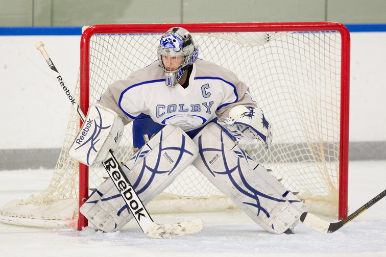 MENTALY TOUGH: Colby College goalie Brianne Wheeler has made over 2,000 saves in her career at Colby College.