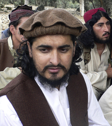 Pakistani Taliban chief Hakimullah Mehsud is shown in the Pakistani tribal area of South Waziristan along the Afghanistan border. Intelligence officials said that Mehsud was killed in a U.S. drone strike.