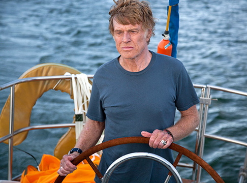 "Robert Redford's character sails solo on the Indian Ocean in ""All is Lost."" The film, which has received advance acclaim, opens in some Maine cities Friday."