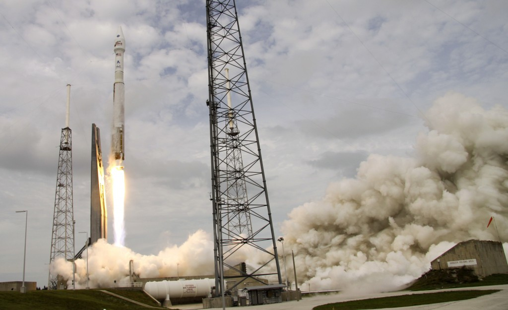 NASA's Maven, atop a United Launch Alliance Atlas 5 rocket, lifts off from Cape Canaveral Air Force Station, Monday, Nov. 18, 2013, in Cape Canaveral, Fla. The spacecraft will orbit Mars and study the planet's upper atmosphere.