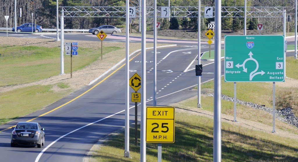 EXIT: Drivers taking exit 113 on the Maine Interstate in Augusta will encounter a roundabout that will either take them west to the new hospital being opened by MaineGeneral Medical Center or east along Route 3.