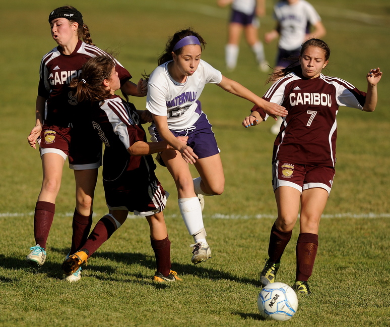 Waterville Senior High School's Pilar Elias scored 44 goals this season for a Purple Panthers team that will face Hermon in the Eastern B regional final Wednesday in Waterville.