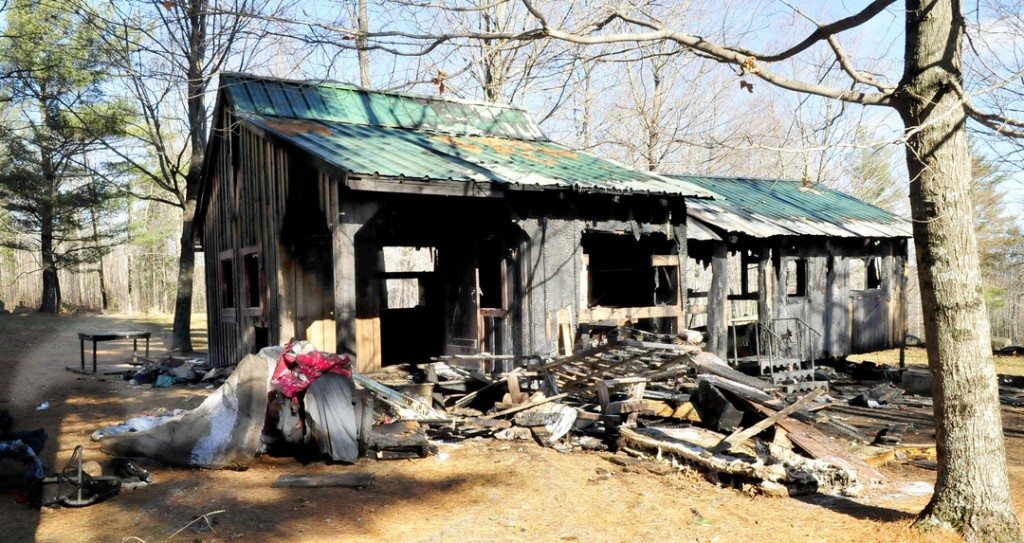 GONE: This guest house owned by Allen Cress on Lord Hill Road in Athens was destroyed by fire Tuesday evening.