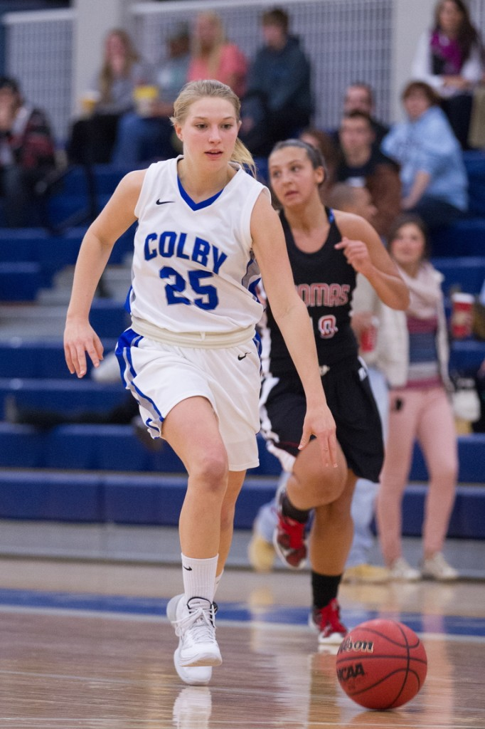 MAKING AN IMPACT: Cony High School graduate Mia Diplock has earned a starting role on the Colby College women's basketball team as a sophomore after rarely playing as a freshman.