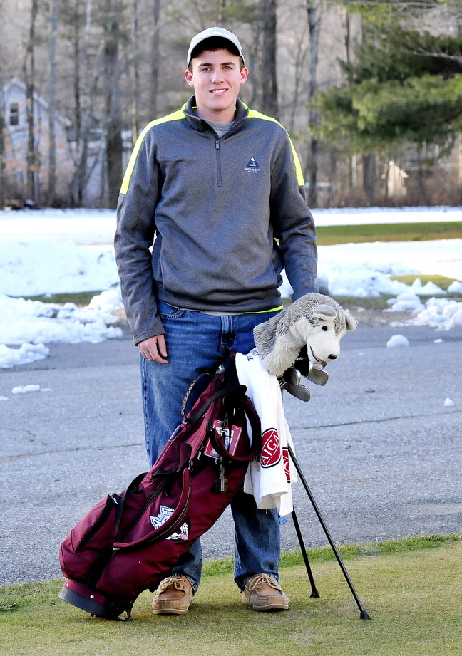 Staff photo by David Leaming Gavin Dugas is Morning Sentinel Golfer of the Year.