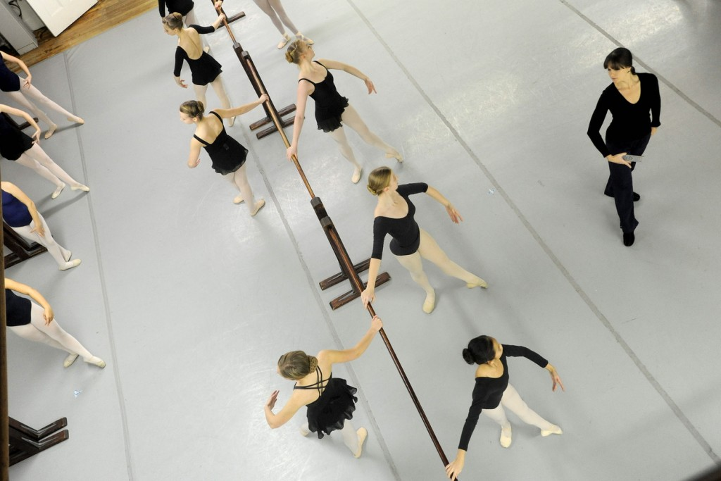 "BOSSOV BALLET: Natalya Getman, far right, rehearses with the Bossov Ballet cast of ""The Nutcracker"" at Maine Central Institute in Pittsfield on Thursday. Getman is the new artistic director for Bossov following the departure of Andrei Bossov."
