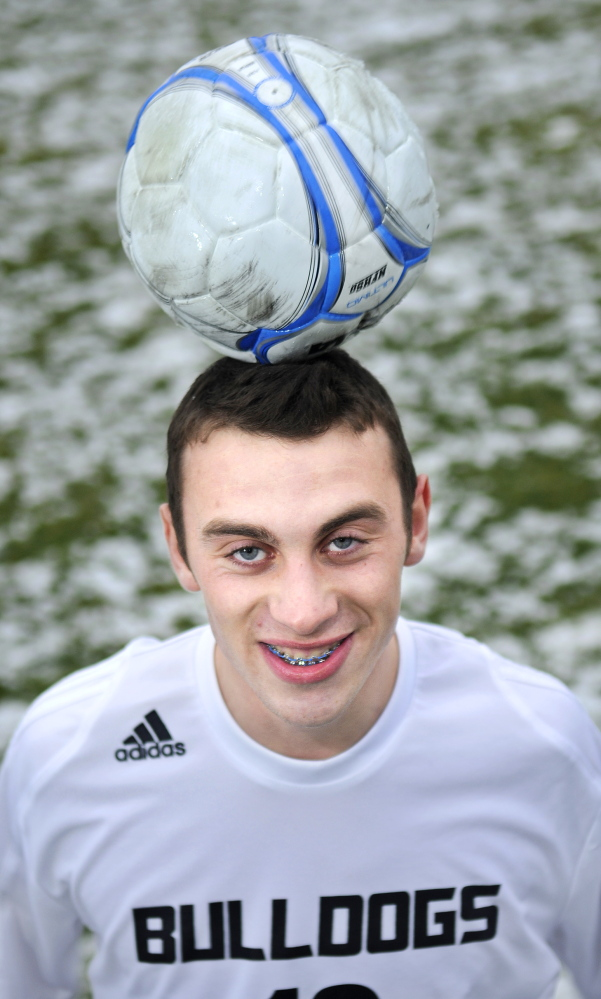 Staff photo by Andy Molloy SPECIAL K: Hall-Dale High School's Konnor Longfellow is the Kennebec Journal's mens soccer player of the year.
