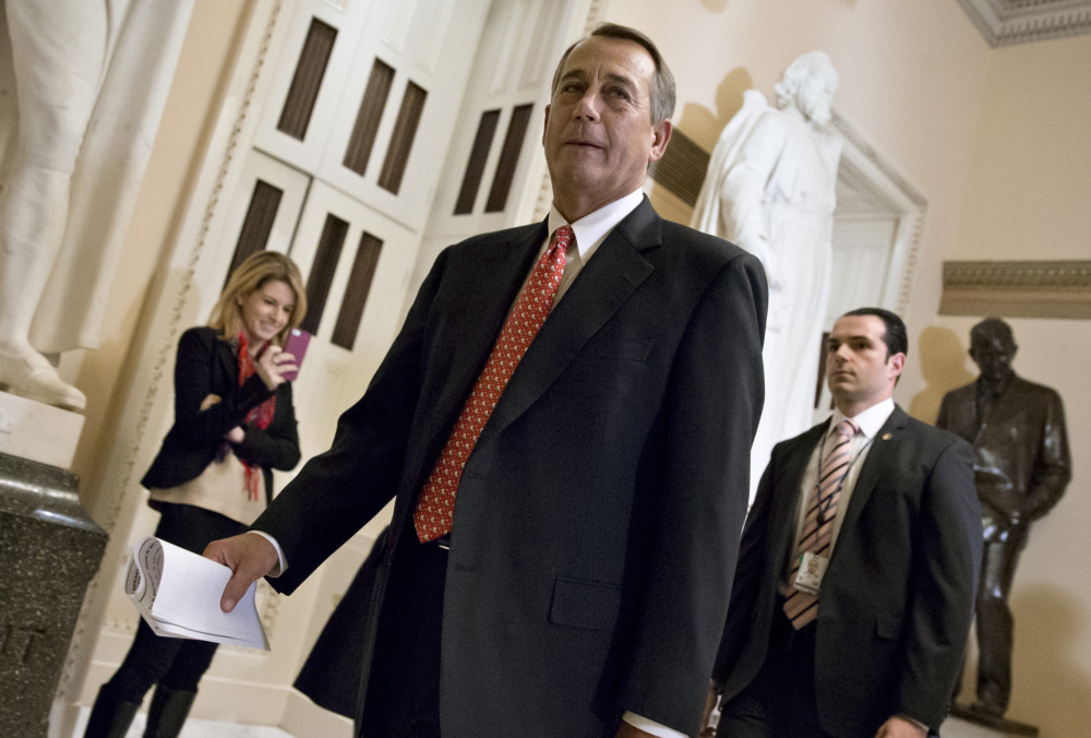 Speaker of the House John Boehner had choice words for some conservative groups Thursday.