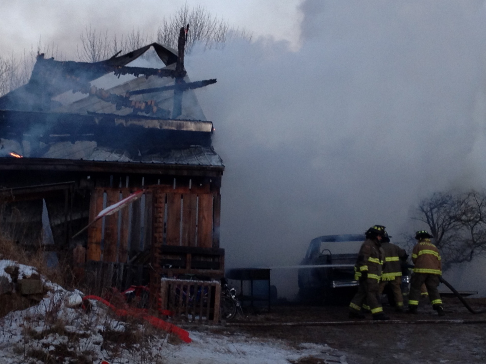 Pittstown Fire: Firefighters responded to a barn fire about 3:10 p.m. Friday on Nash Road in Pittston.