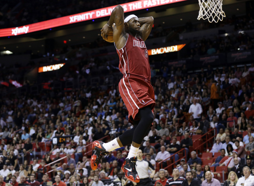 Four-time NBA MVP LeBron James became the third NBA player to be named the Associated Press Male Athlete of the Year on Thursday. He joins Michael Jordan and Larry Bird as the only NBA players to win the award.