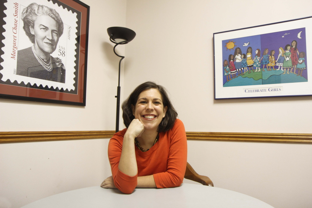 Photo by Jeff Pouland hopes for 2104: Ashley Lahoud, vice president of development and operations at Hardy Girls Healthy Women at 177 Main St. in Waterville. Photo by Jeff Pouland Ashley Lahoud, vice president of development and operations at Hardy Girls Healthy Women at 177 Main Street in Waterville.