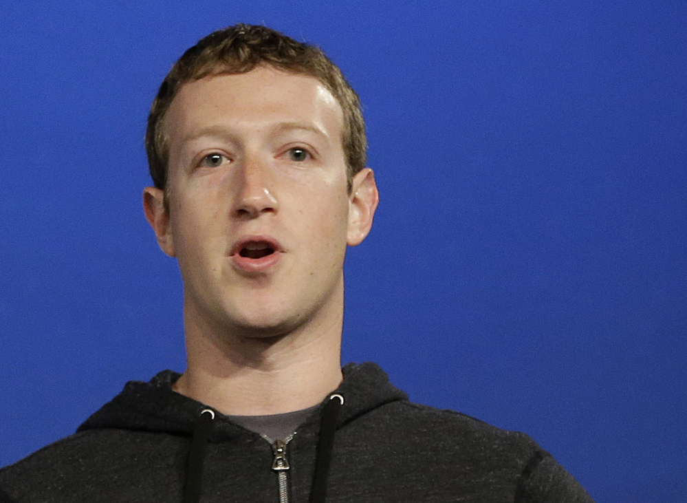 The Associated Press Facebook CEO Mark Zuckerberg speaks at Facebook headquarters in Menlo Park, Calif. Zuckerberg gave $992.2 million to the Silicon Valley Community Foundation in 2013.