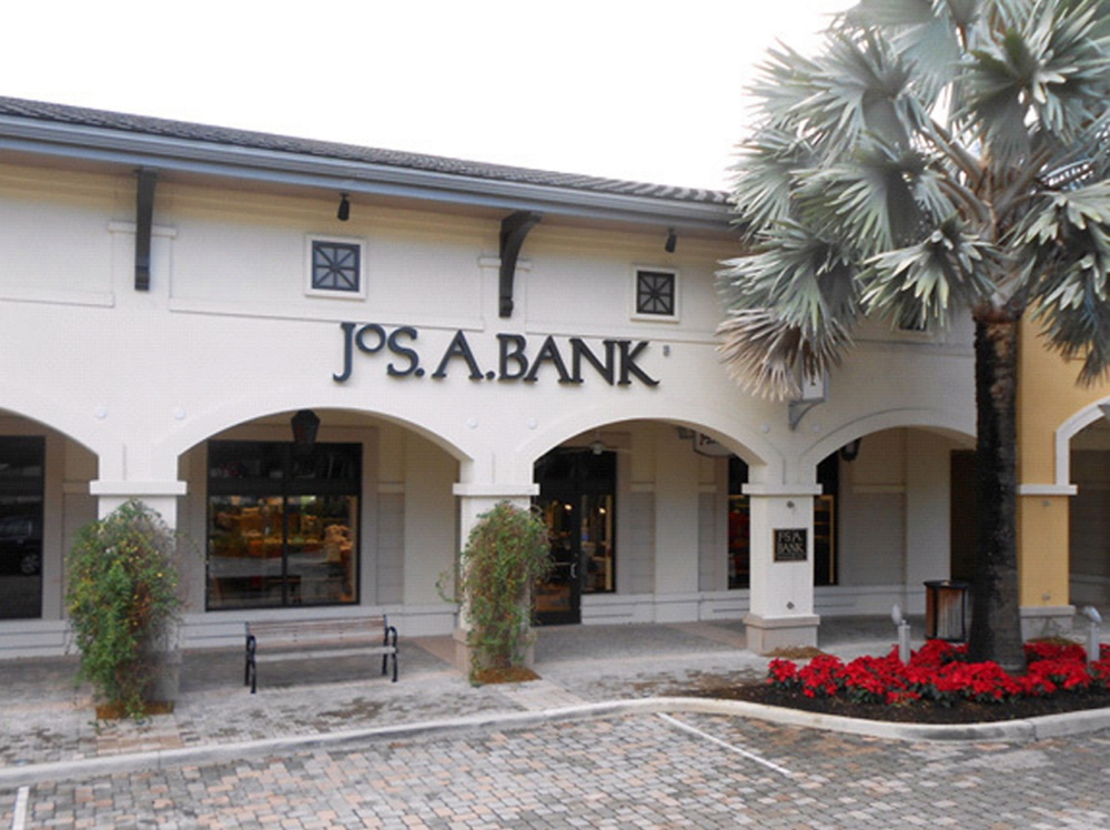 Jos. A. Bank, based in Hampstead, Md., sells men's tailored and casual clothing and shoes and is known for ads that say consumers can buy one suit or sport coat and get three for free. Men's Wearhouse, which is based in Fremont, Calif., has been going after younger shoppers with suits with slimmer silhouettes.