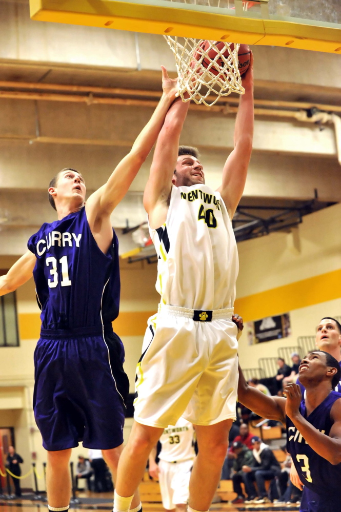 Contributed photo STILL A PRESENCE: Mt. Blue High School graduate Cam Sennick earned a starting role on the Wentworth Institute of Technology men's basketball team and usually guards the opposing team's big man.