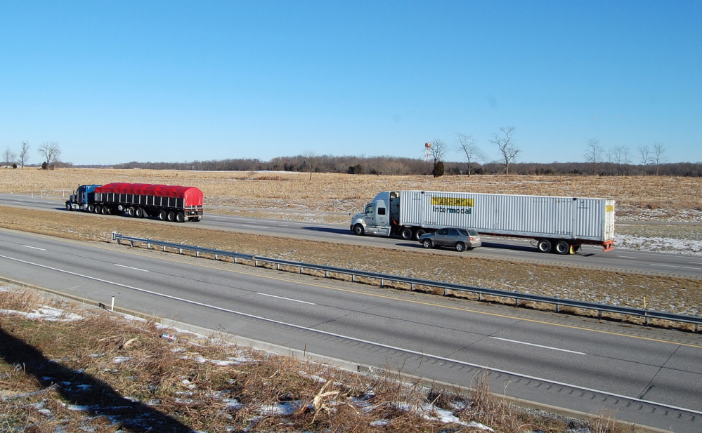 On Tuesday, Jan. 7, 2014, northbound vehicles on Interstate 81 pass the site in the median where Timothy
