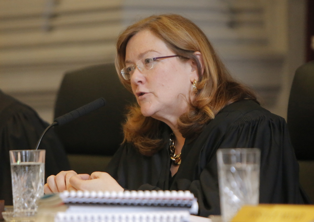 "A committee has endorsed a pay-raise proposal by Maine Supreme Judicial Court Chief Justice Leigh Saufley, above. The plan offers ""a little bit of progress,"" said Saufley's liaison, Mary Ann Lynch, and would cost $180,000 in the next fiscal year."