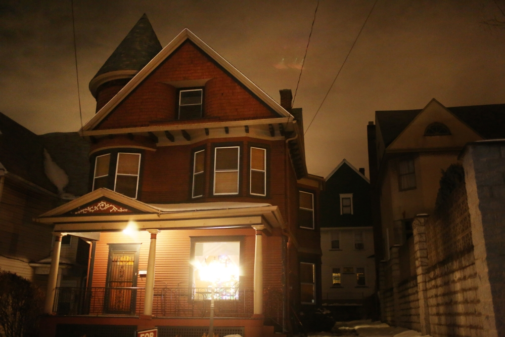 Pennsylvania homeowners Gregory and Sandi Leeson are thoroughly creeped out by their 113-year-old Victorian home at 1217 Marion St. in Dunmore, Pa. So, when they put the house up for sale last month, they advertised it as ìslightly haunted.