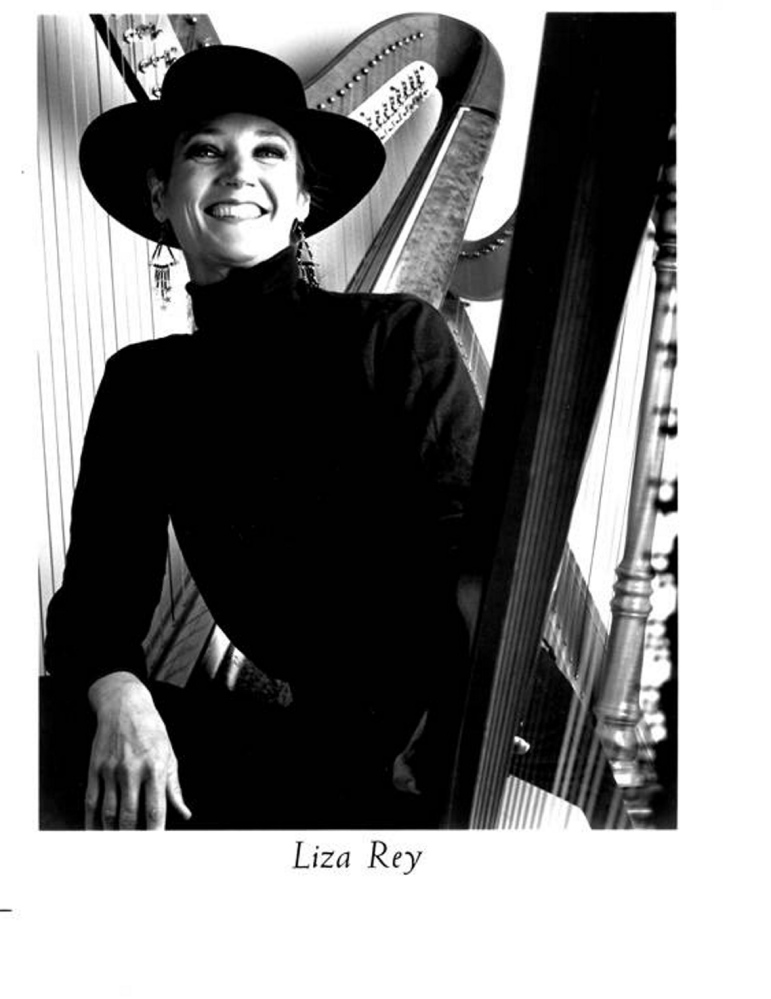 Liza Rey Butler publicity photo from her days as a jazz harpist.