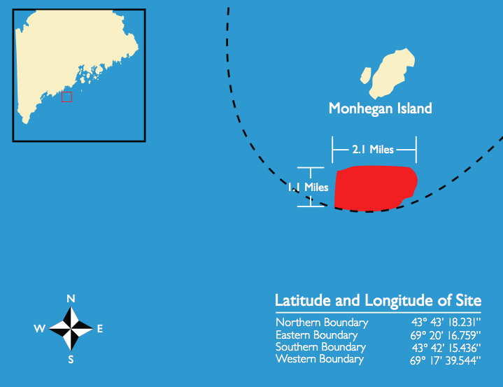UMaine's offshore wind test site is located off Monhegan Island.
