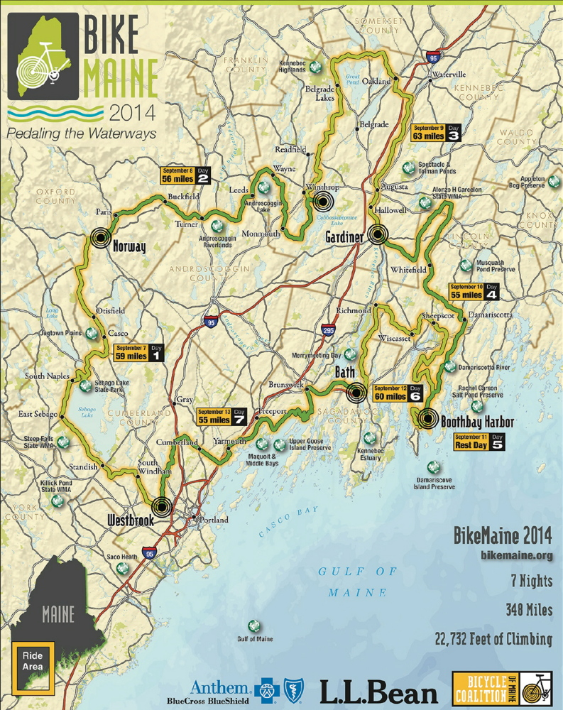 Bikemaine Sets 350 Mile Cycling Course For Second Annual